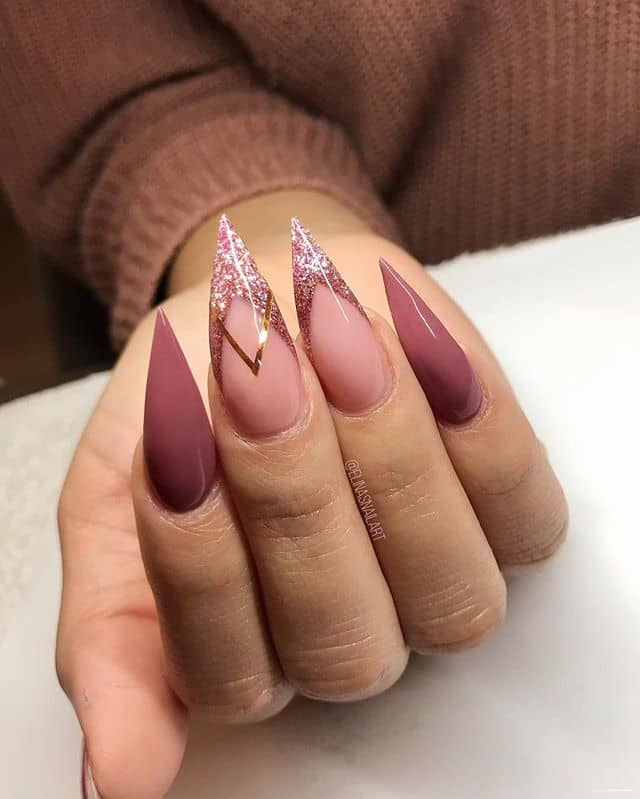 Extra Sharp Purse-Like Pointy Acrylic Nails