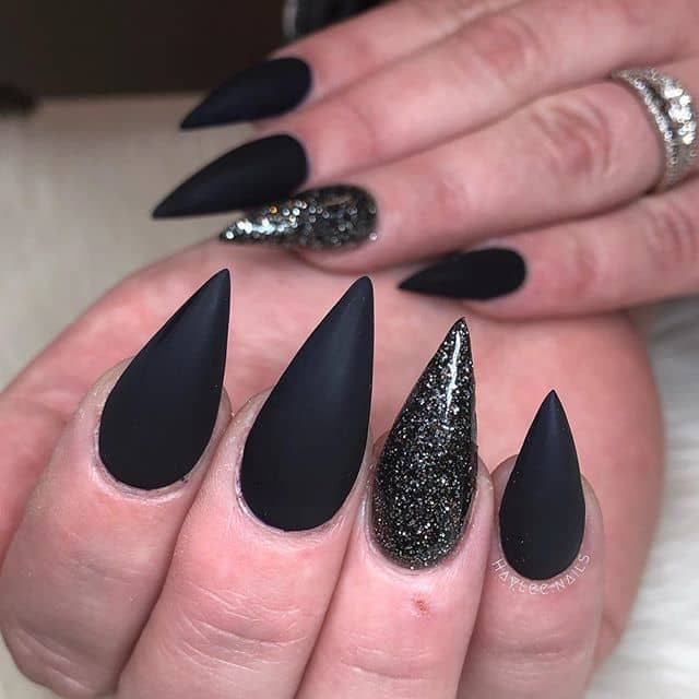 Operatic Opaque Nails with a Hint of Attitude