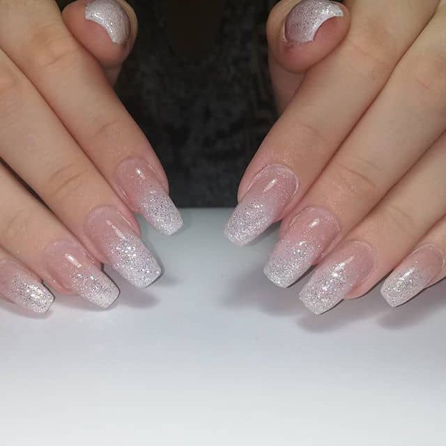 Silver Ombre with French Manicure