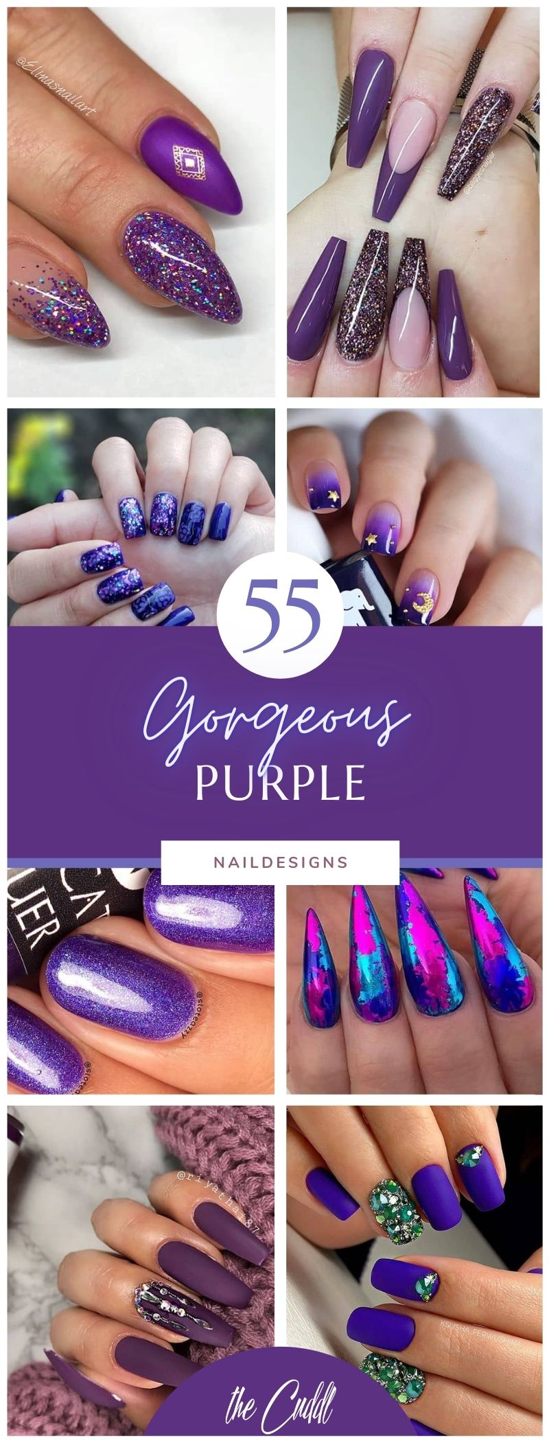 50 Perfect Purple Nail Designs for Practically any Occasion