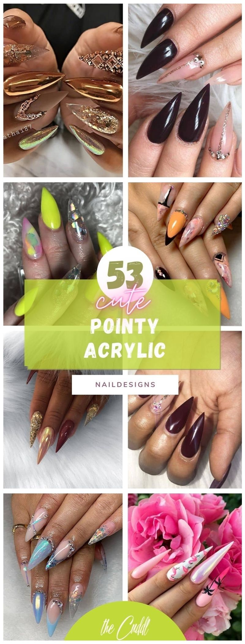 53 Simple Pointy Acrylic Nails to Feel Like the Queen You Are
