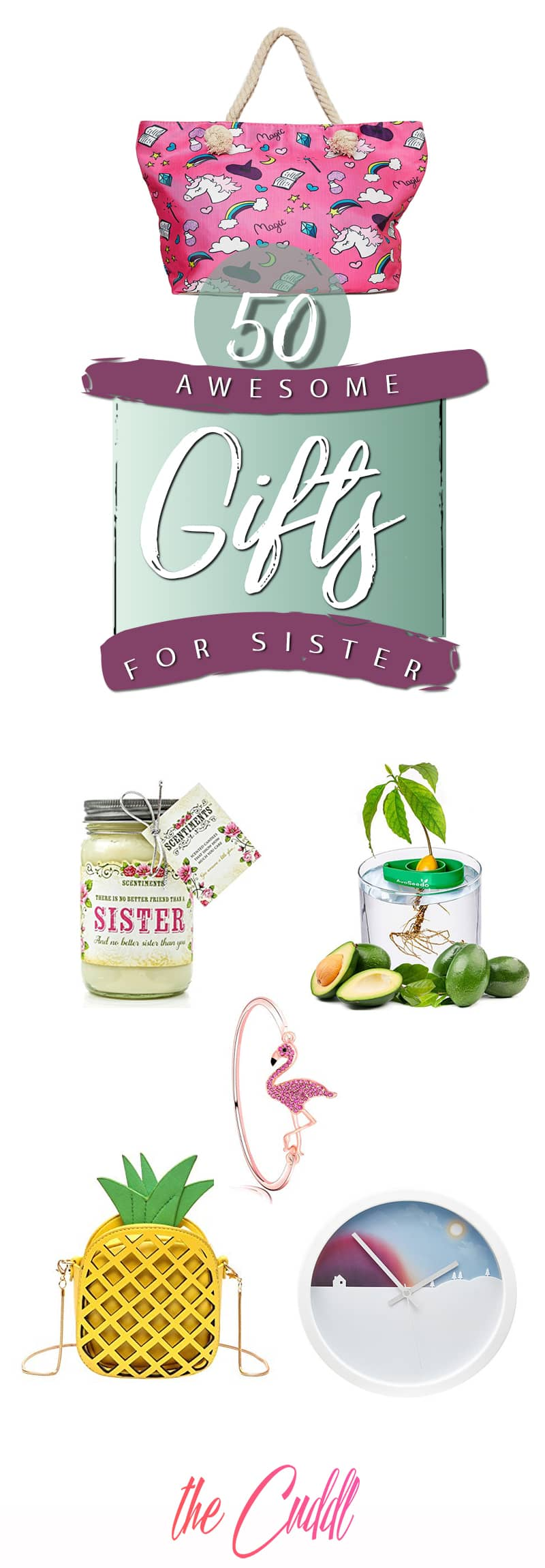 50 Fun and Unique Gifts for Sister that She will Love