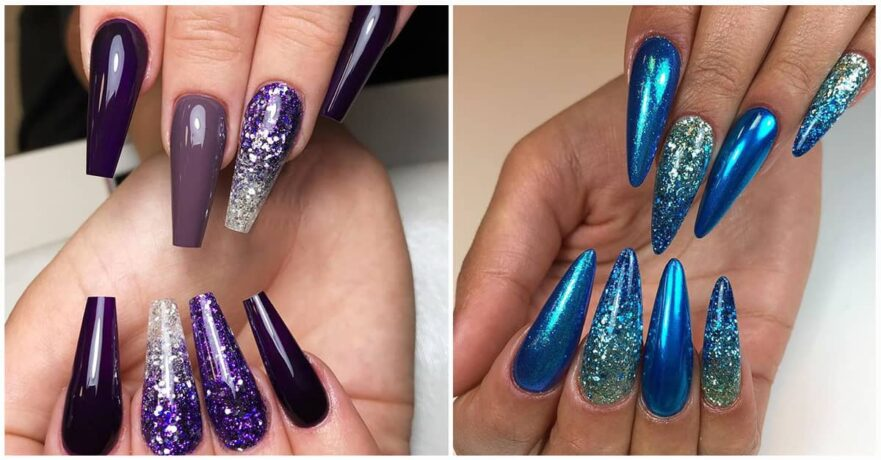 50 Cool Glitter Ombre Nails That are Trending This Summer!