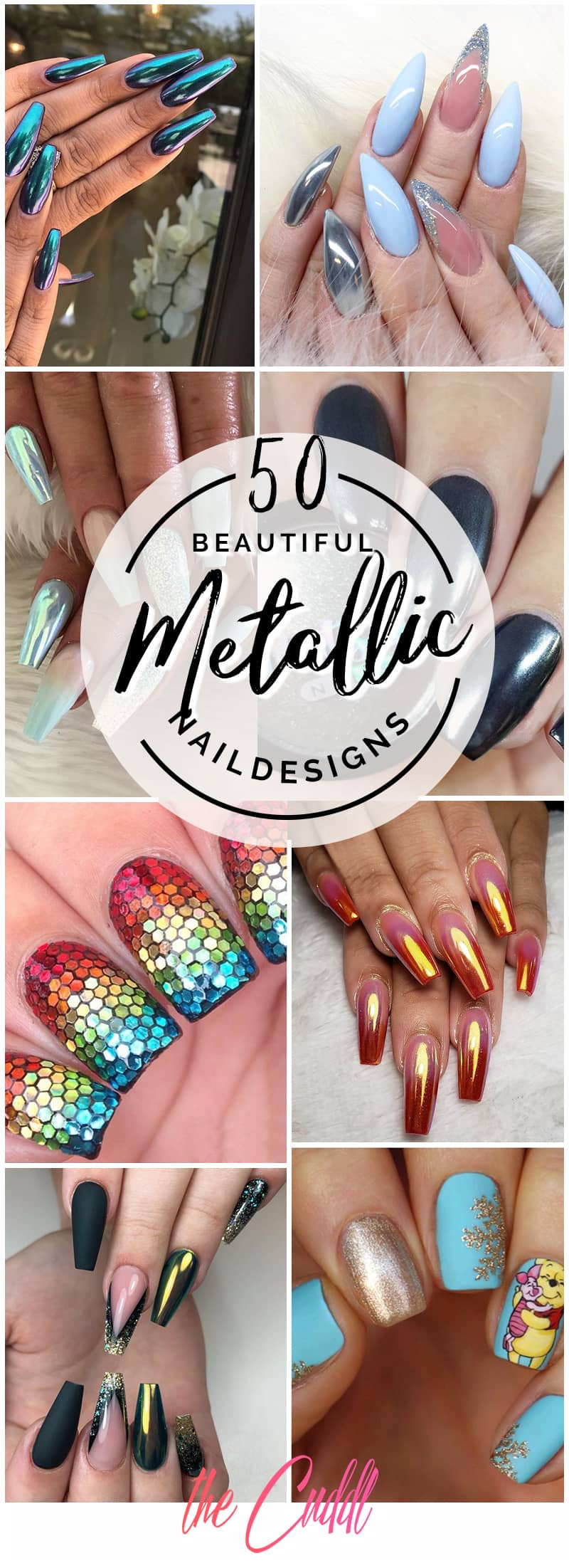 50 Gorgeous Metallic Nail Designs That Are Incredibly Envy and Instagram-Worthy