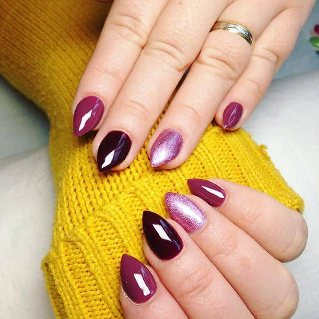 Luscious Arrowhead Nails in Delectable Colors