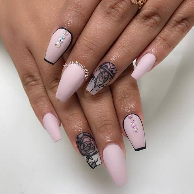 Pretty in Pink Nails by Mztina