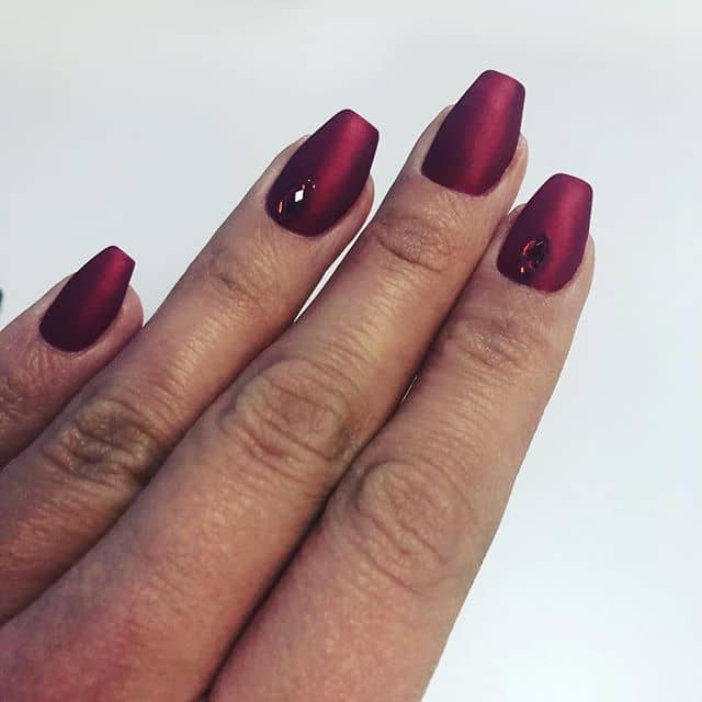 These Seductive Ruby Red Nails Are Radiant