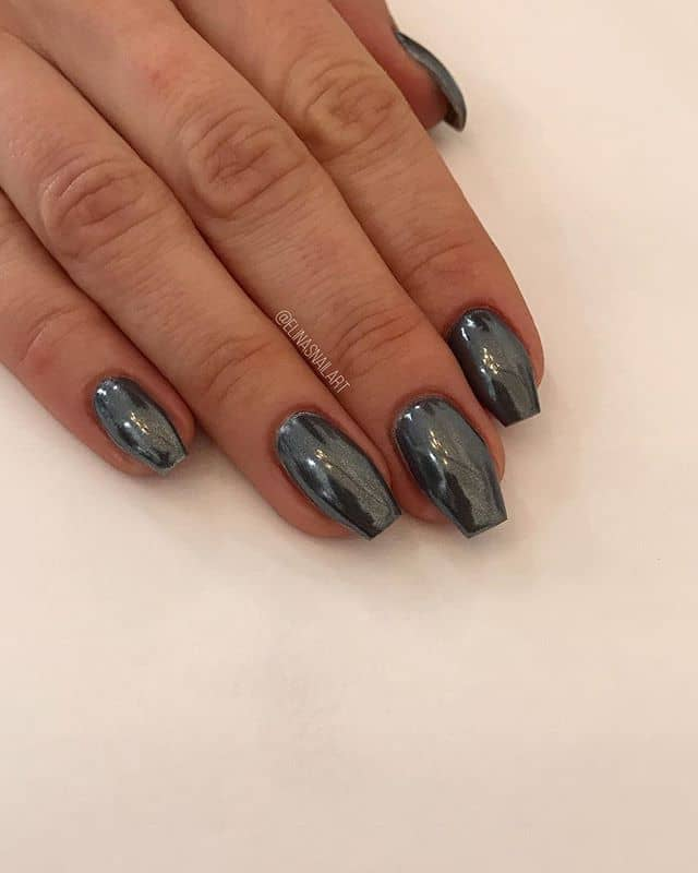 Steel Gray Elinas Nails Perfectly Formal