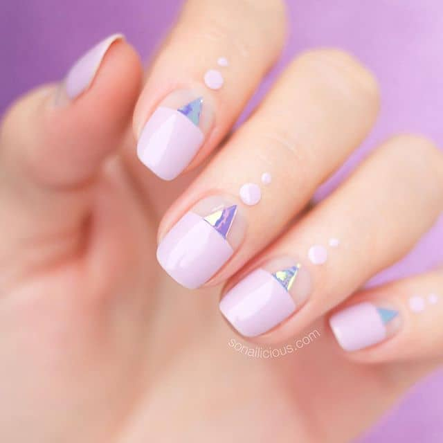 Abstract and Geometric Patterned Nail Design