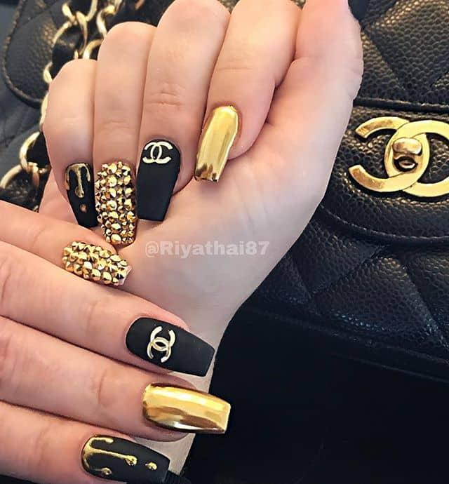 Fancy Coco Chanel Nails Evoke Luxury