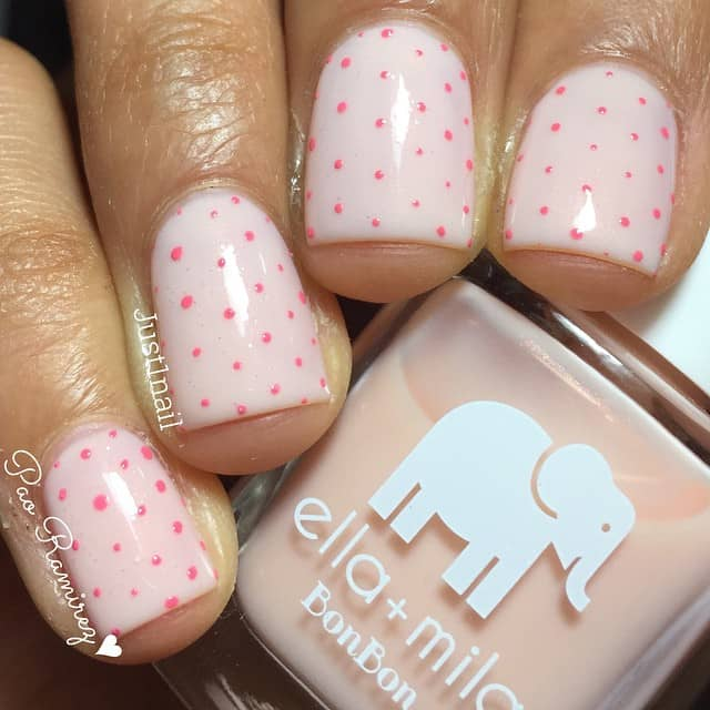 Three Dimensional Polka Dot Nail Design