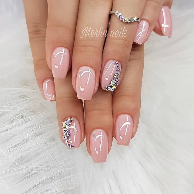 Classic Pink With a Twist Nails