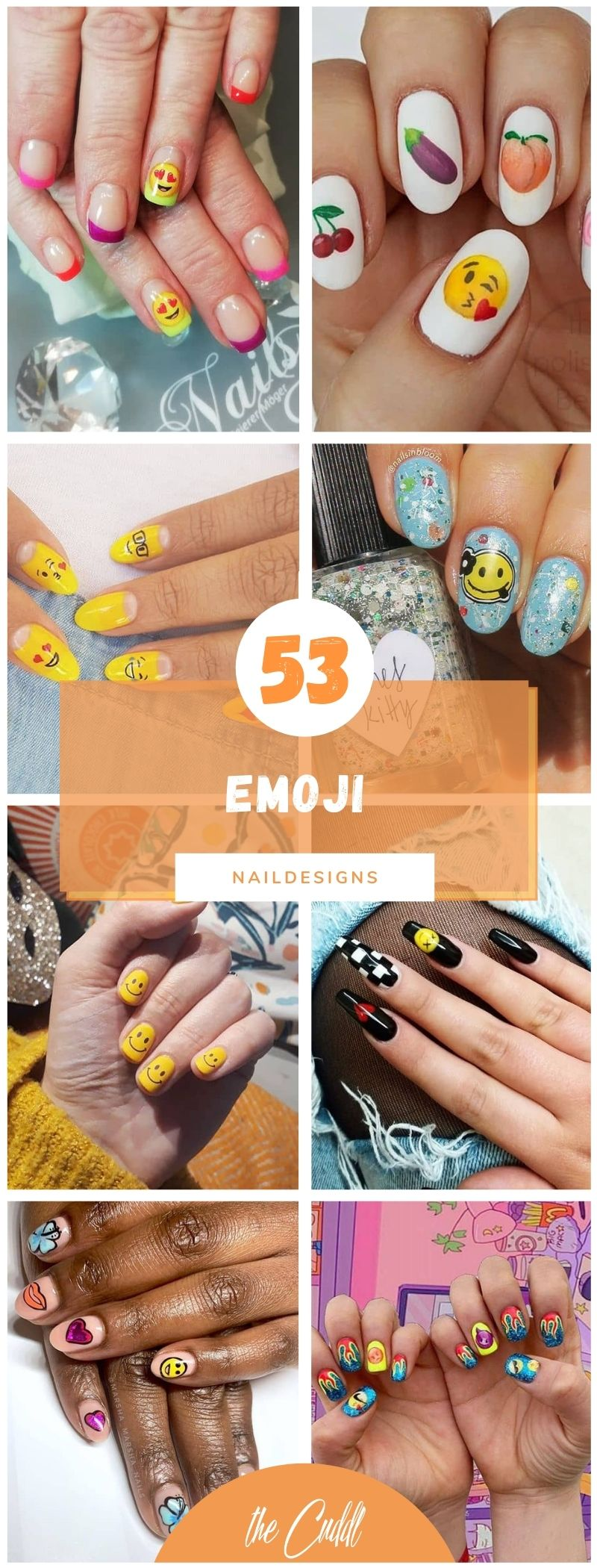 50 Unique Emoji Nail Ideas to Revive a Boring Manicure