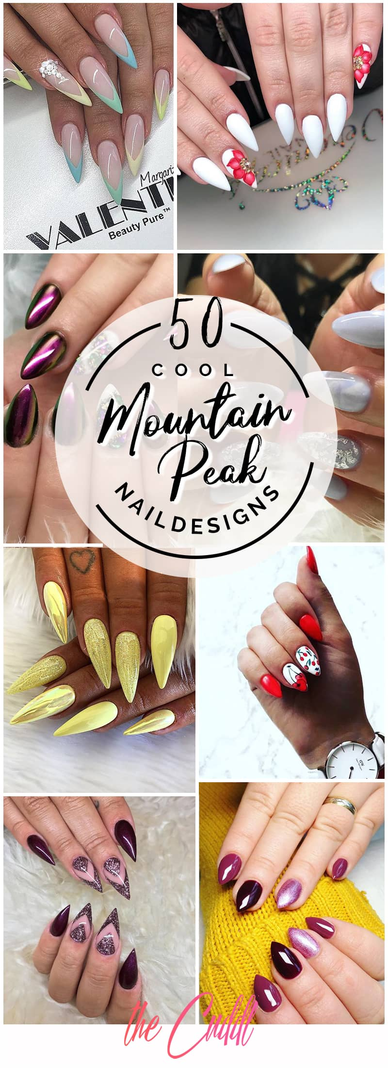 50 Stunning Mountain Peak Nail Ideas That You'll Fall in Love With