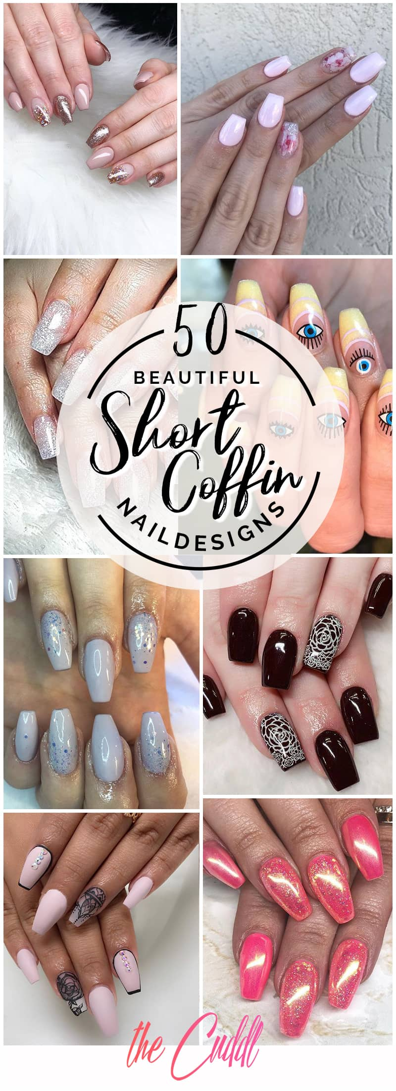 50 Beautiful Short Coffin Nails to Boost Your Style