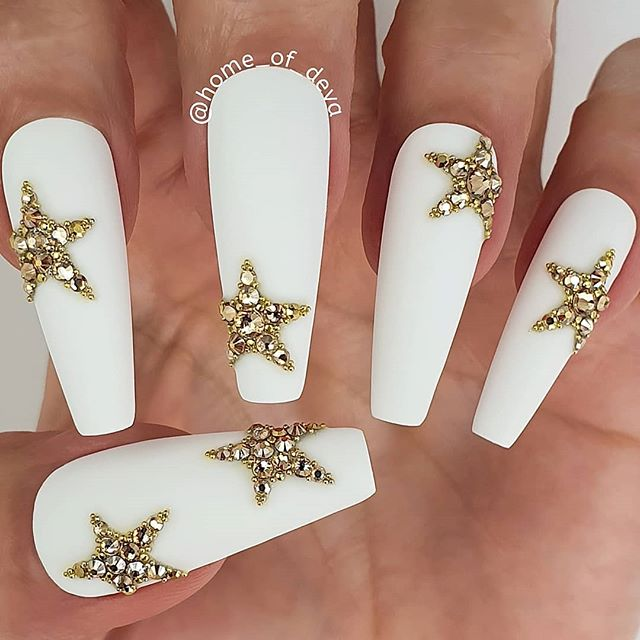 Unforgettable and Modern Sci-Fi Inspired Jewel Nail