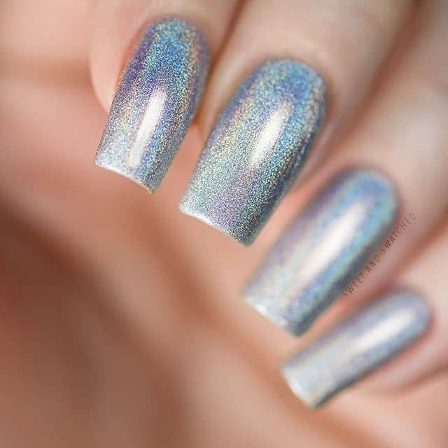 Cute and Easy Silver Nail Designs