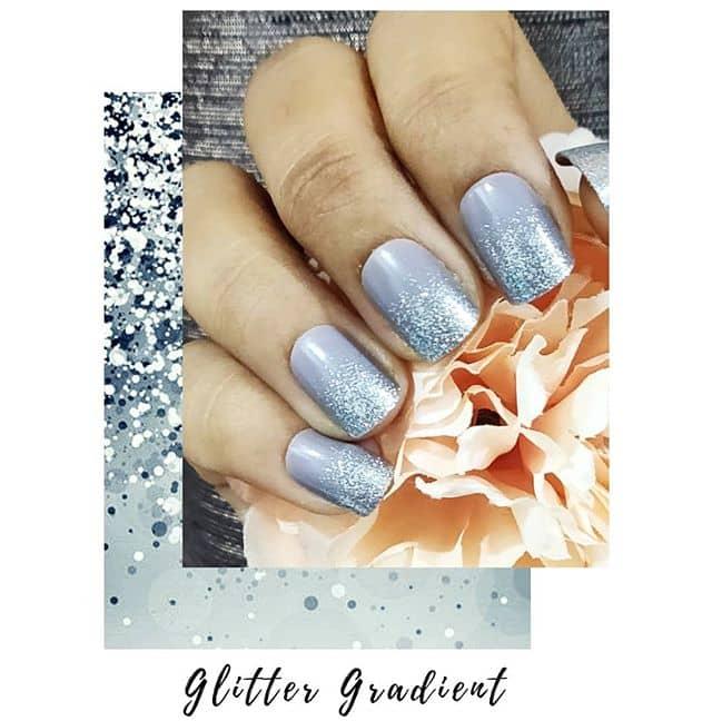 Purple Princess Silver Tip Nail Design