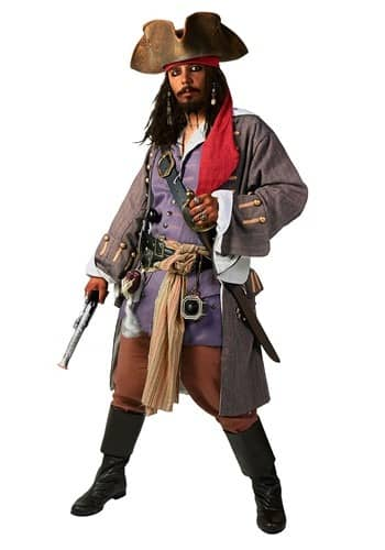 Grey Jack Sparrow Pirate Coat from The Pirate Dressing