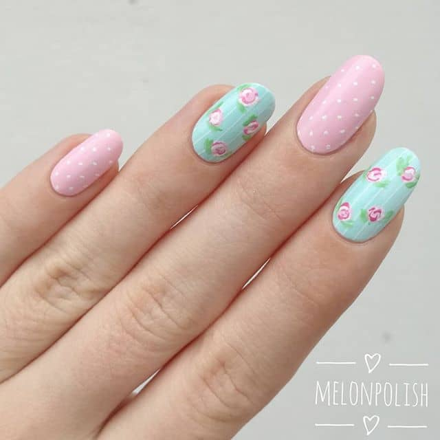 Girly Pastel Pink and Blue