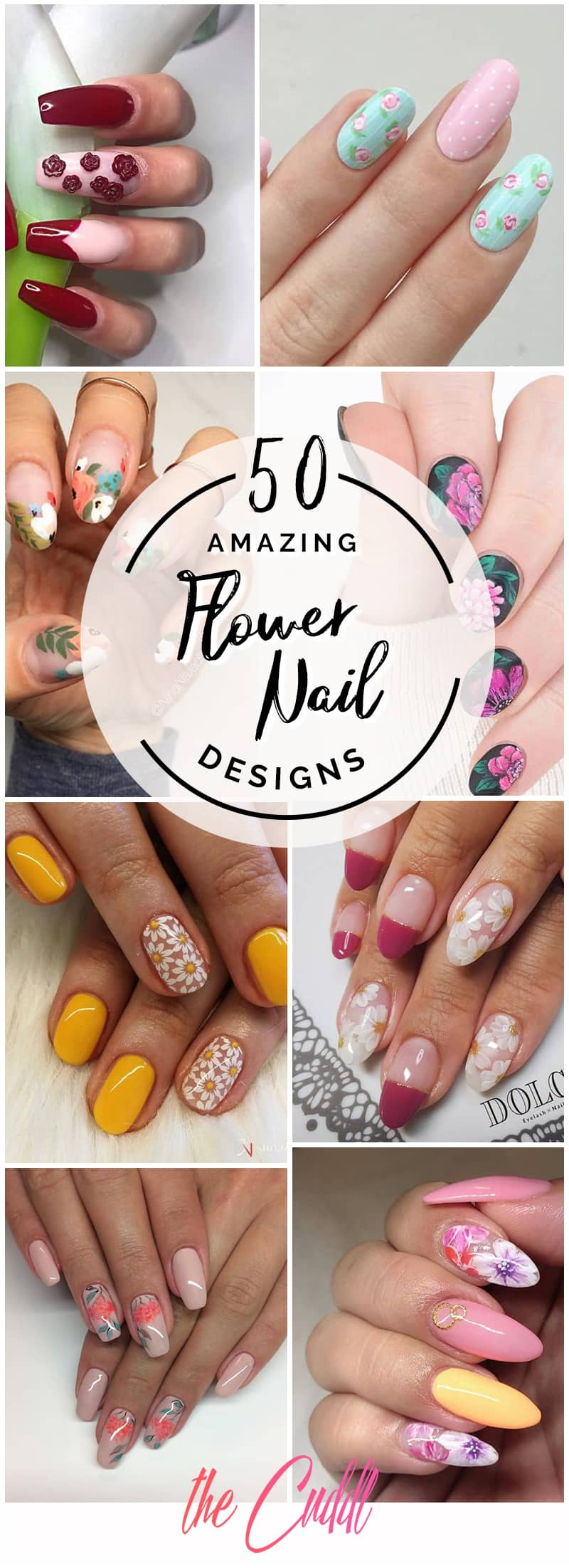 50 Cool Flower Nail Design Ideas To Spice Up Your Look In 2020