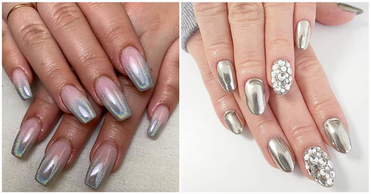 50 Awesome Silver Nail Ideas For Any Occasion In 2020