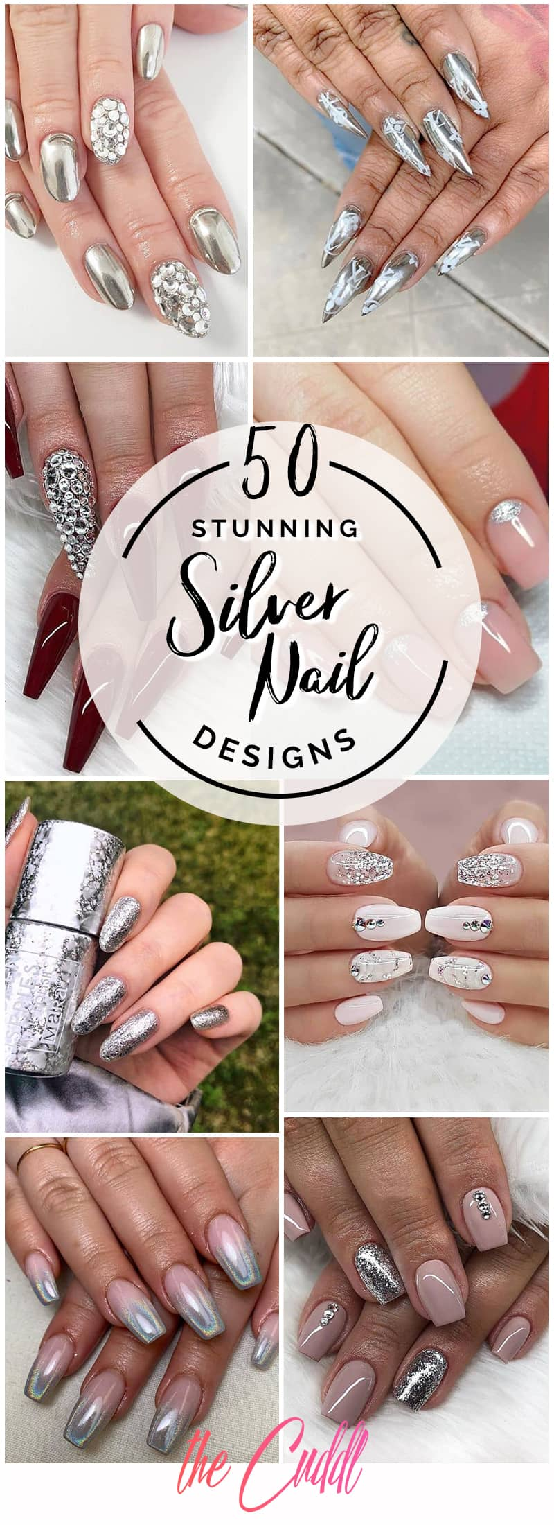 50 Awesome Silver Nail Ideas for Any Occasion