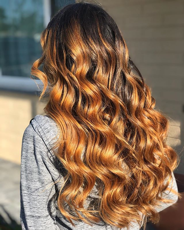 10.Super Long Honey Curls from Ombre Base
