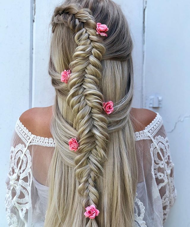 Beautiful Fishtail Braid Hairstyles For Bridal Parties