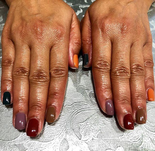 Whimsical Color Scheme Nail Design