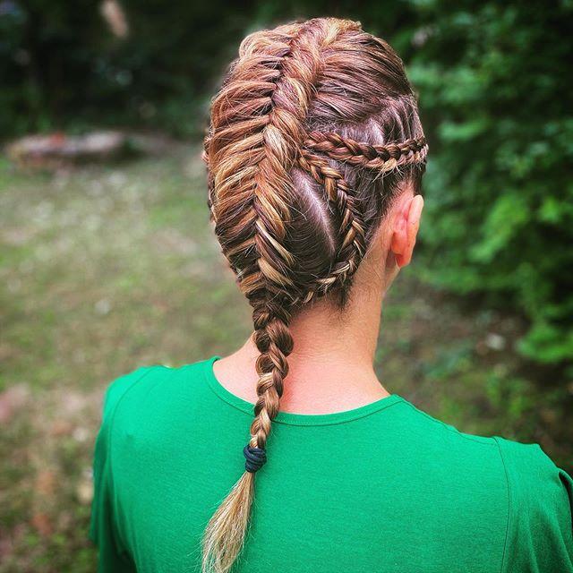 Intricate Viking Babe Fishtail Braid
