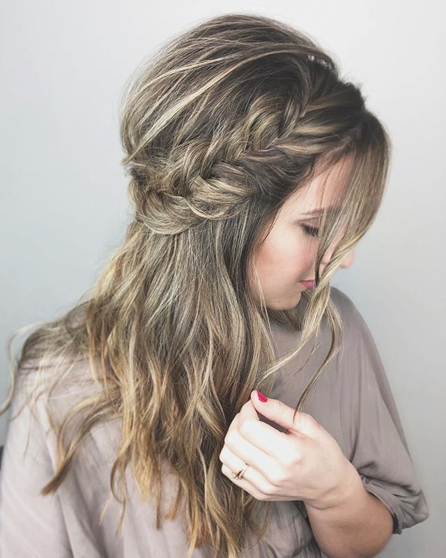 Loose Waves And Fishtail Braids