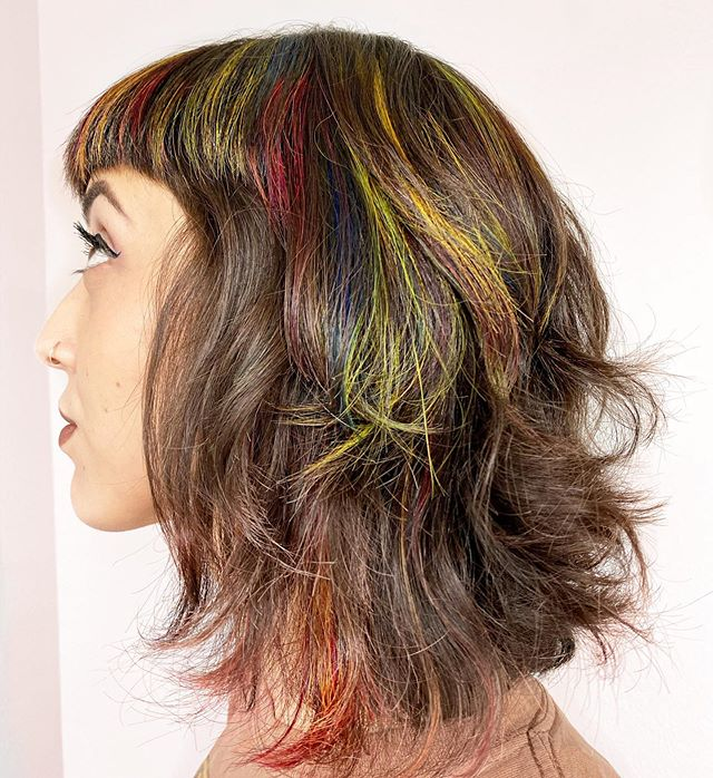 Colorful Bob with a Fringe