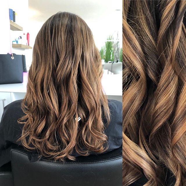 Medium Length Melted Ombre Ring Curls