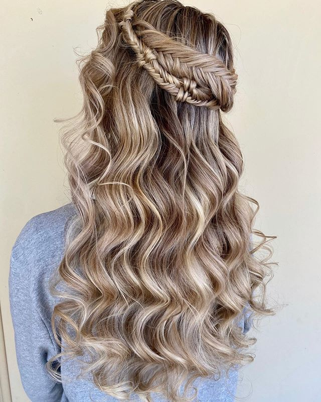 Blonde Fishtail Hair Halo For Wedding