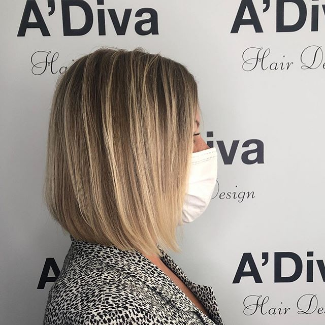 Shoulder Length Bob with Blonde Highlights