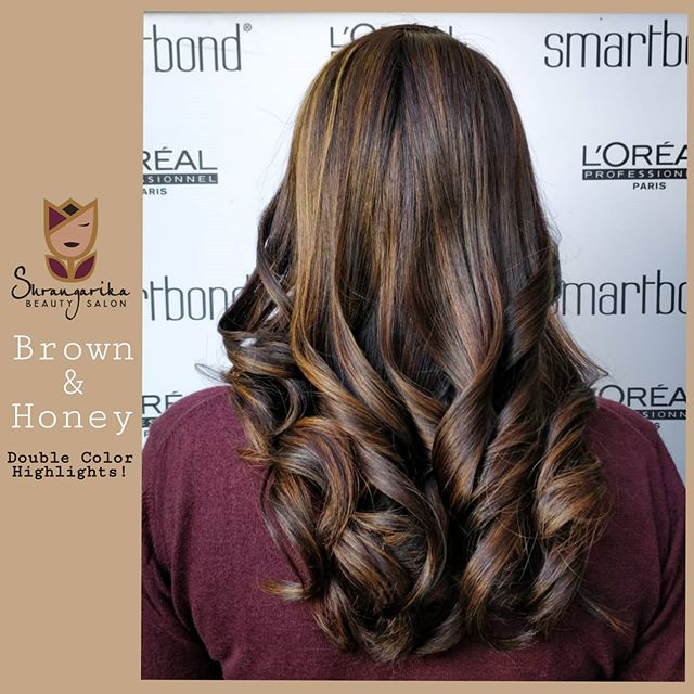 High-Density Curls with Double Color Highlights