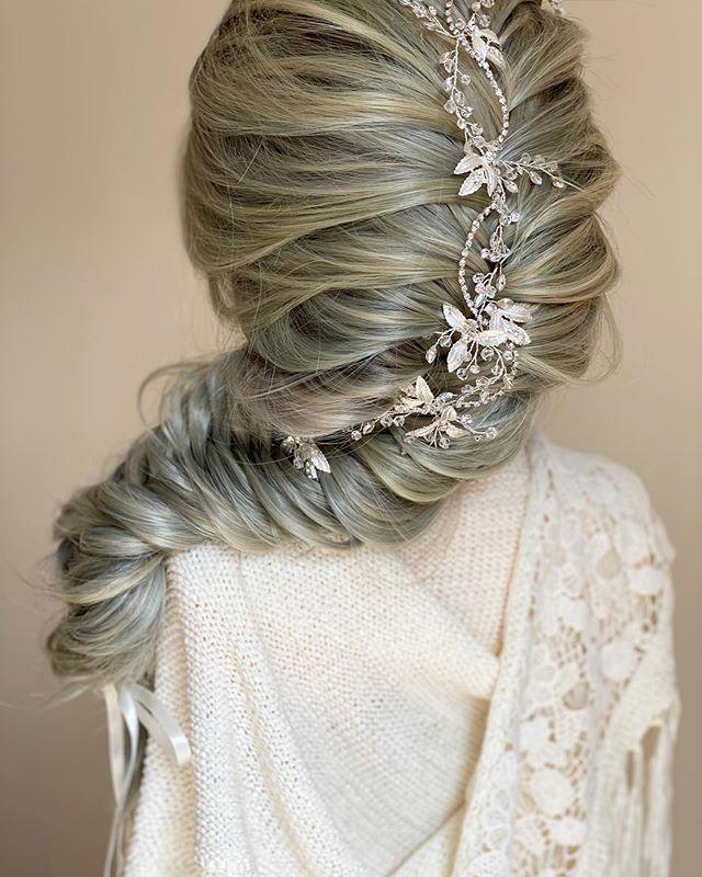 Romantic Chunky Braid With Hair Vine
