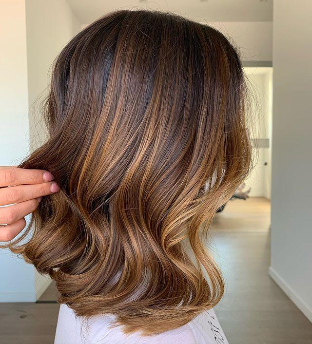 Medium Length Cut with Honey Blonde Ends