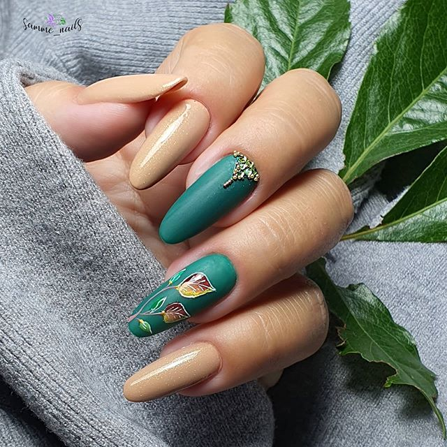 Beige with Upbeat Green Accents