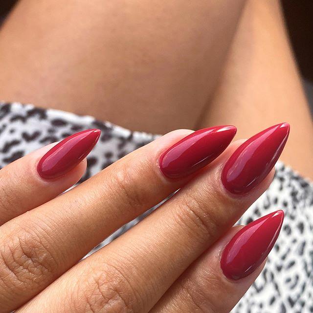 Cherry Red Stiletto Nails