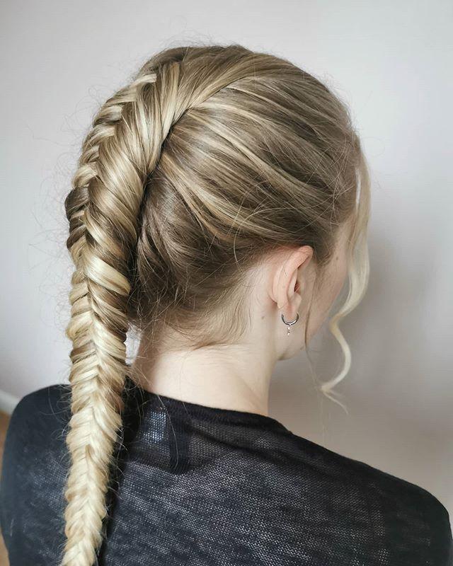 Sleek And Sporty Fishtail Braid