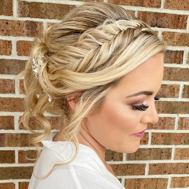 Beautiful Blonde Fishtail Braid Bridal Bun
