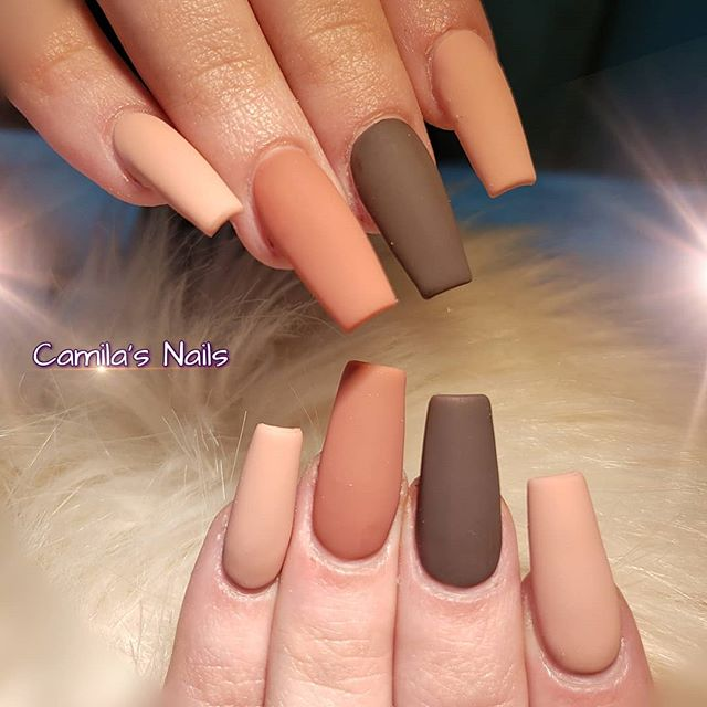 Matte Shades of Brown and Taupe