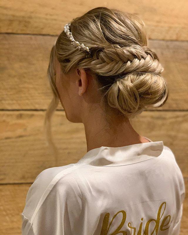 Stunning Bridal Fishtail Braid Updo