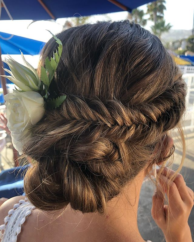 Multiple Layered Fishtailed French Twist