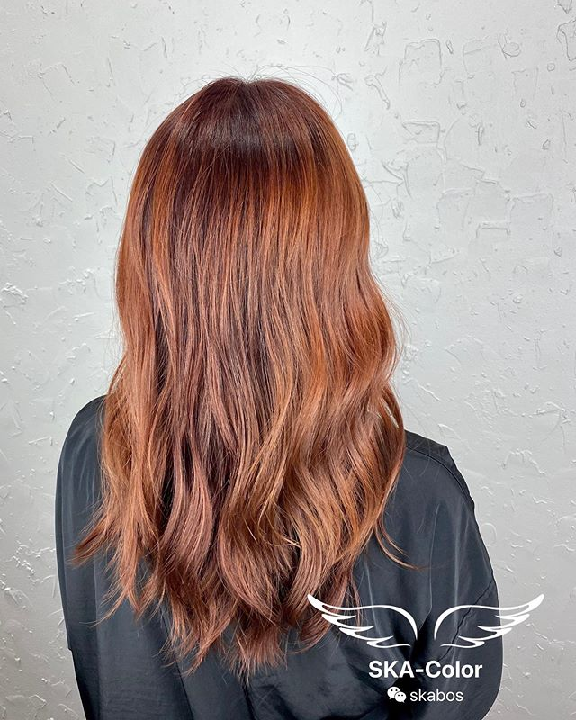 Simple and Long Honey Brown Hair Color