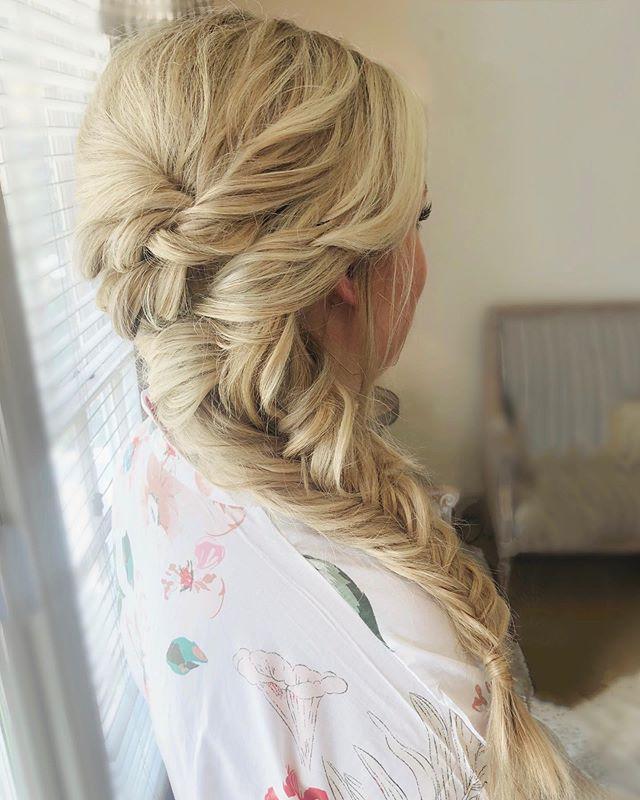 Big Elsa Braid For The Beautiful Bride