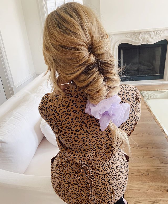 Fishtail Braid With Oversized Scrunchie