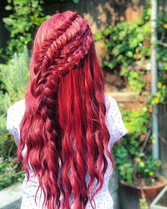 Fiery Red Five Strand And Fishtail